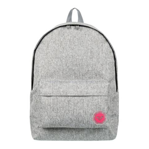 Roxy Grey Sugar Baby Heather Small Backpack