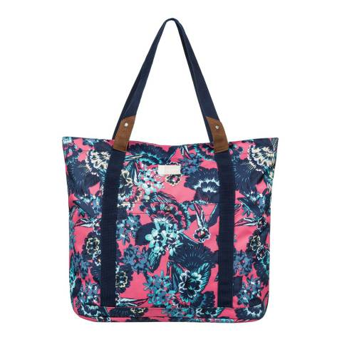 Roxy Pink Other Side Large Tote Bag