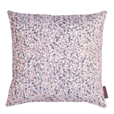 Clarissa Hulse Oyster/Smoke Garland Silk Cushion, 45x45cm