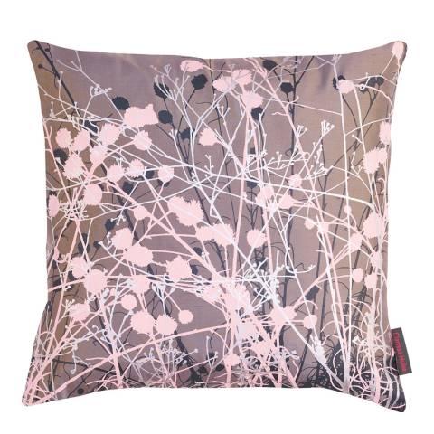 Clarissa Hulse Storm/Plaster Pink Mystras Silk Cushion, 45x45cm