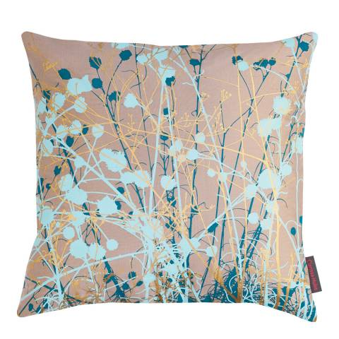 Clarissa Hulse Pebble/Peacock Mystras Silk Cushion, 45x45cm