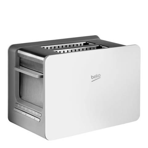 Beko Sense 2 Slice Toaster, White