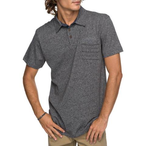 Quiksilver Herron Grey Cotton Stripe Pocket Polo Shirt