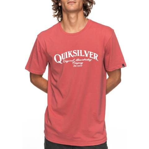 Quiksilver Mineral Red Cotton Super Strut T Shirt