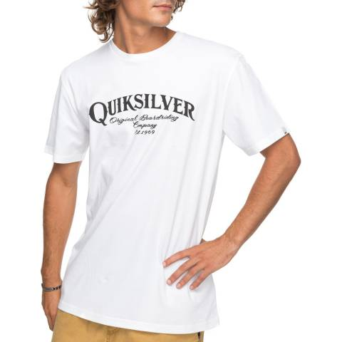 Quiksilver White Cotton Super Strut T-Shirt