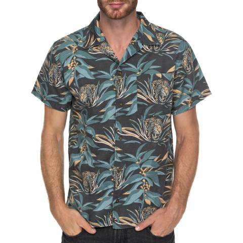 Quiksilver Green/Multi Tropical Print Shirt