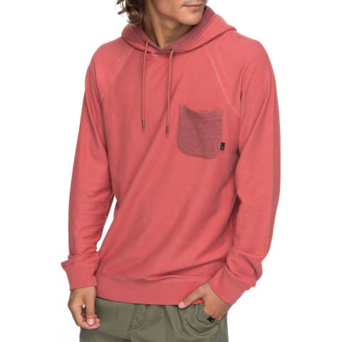 Quiksilver Light Red Baao Hooded SweaT-Shirt