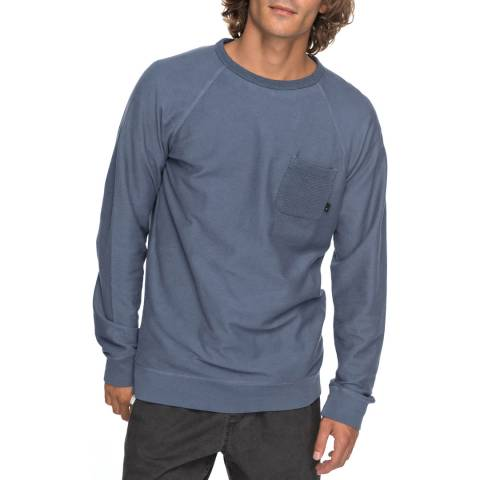 Quiksilver Indigo Baao Crew Neck SweaT-Shirt