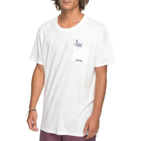 Quiksilver White Cotton Skumel T Shirt