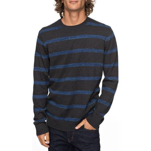 Quiksilver Grey/Blue Stripe Slowcan Jumper