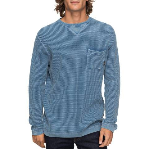 Quiksilver Blue Cotton Sondon Jumper