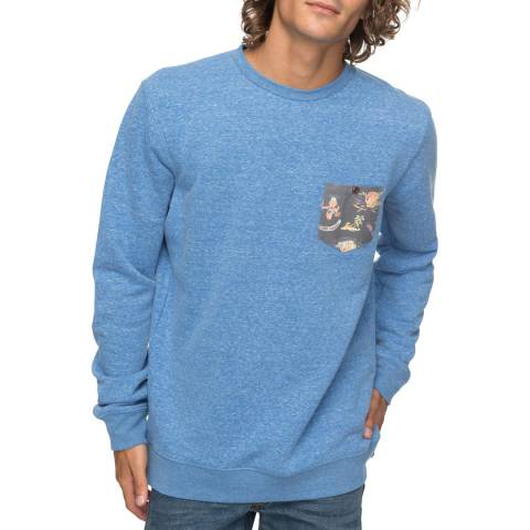 Quiksilver Blue Buckmann SweaT-Shirt