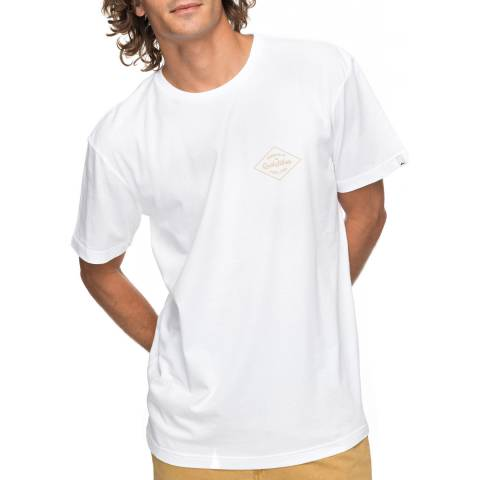 Quiksilver White Cotton Classic Amethyst T-Shirt