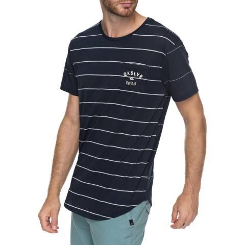 Quiksilver Navy Caperrocks Stripe T-Shirt