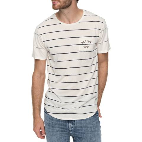 Quiksilver White Caperrocks Stripe T-Shirt