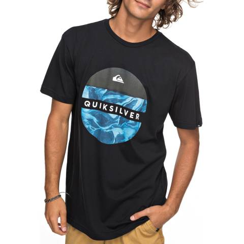 Quiksilver Black Cotton Outer Hacka T-Shirt