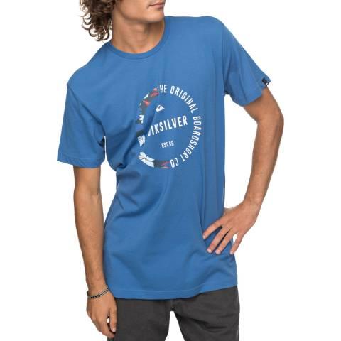 Quiksilver Blue Cotton Classic Revenge T-Shirt