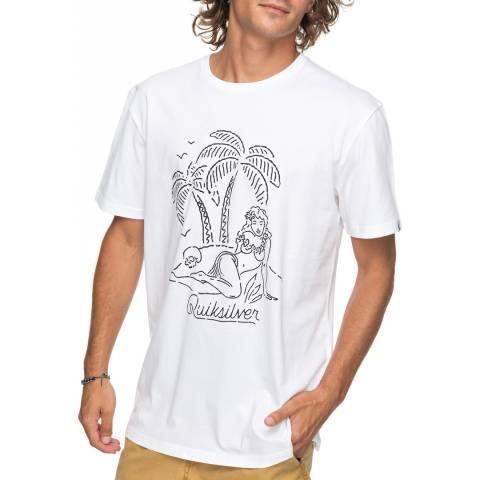 Quiksilver White Classjustsayin T-Shirt