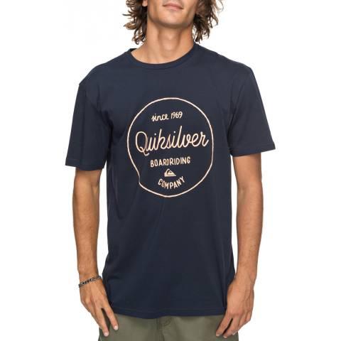 Quiksilver Navy Clmornslides T-Shirt