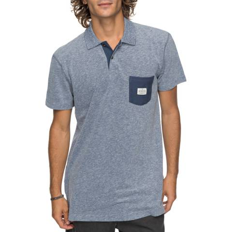 Quiksilver Blue Cruz Polo Shirt