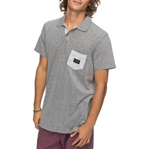 Quiksilver Light Grey Cruz Polo Shirt