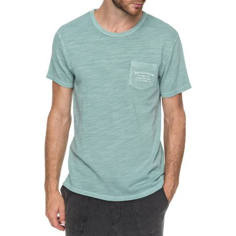 Quiksilver Green Vancheck Pocket T-Shirt