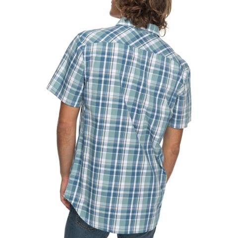 Quiksilver Blue Everday Check Short Sleeve Shirt