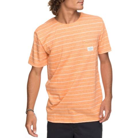 Quiksilver Orange/White Zermet T-Shirt