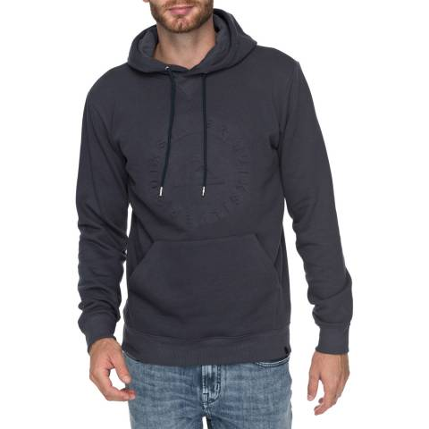 Quiksilver Dark Grey Embossed Hooded SweaT-Shirt