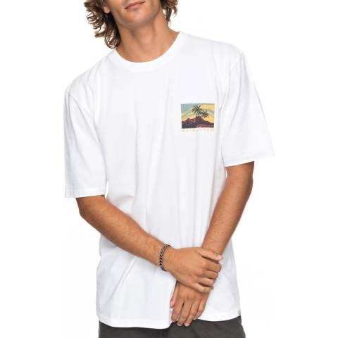 Quiksilver White Larhune T-Shirt