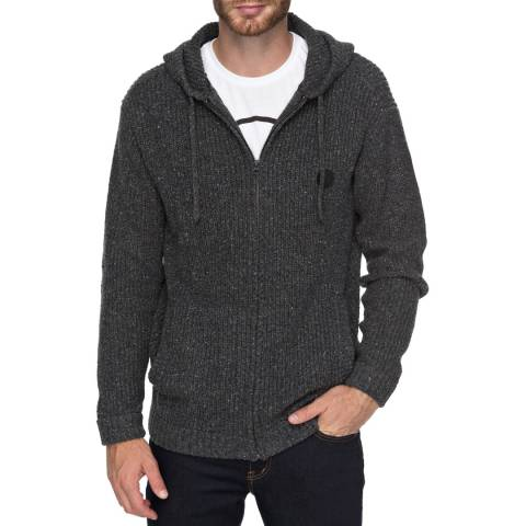 Quiksilver Dark Grey Lemmikil Hooded Zip-Up Jumper
