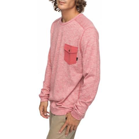Quiksilver Pink Lindow Crew Neck Sweater