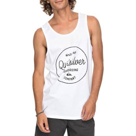 Quiksilver White Mornin Slide Tank Top