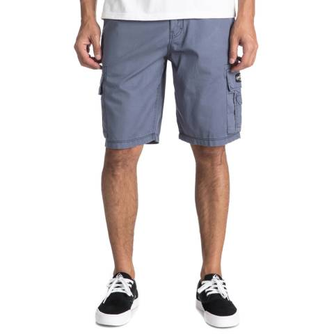 Quiksilver Pale Blue Cotton Rogue Beats Shorts