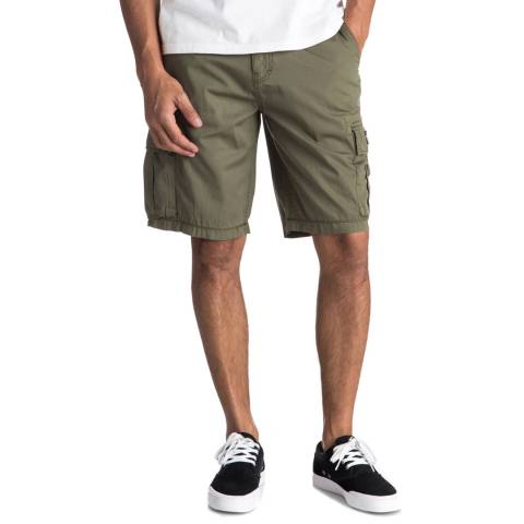 Quiksilver Dark Green Cotton Rogue Beats Shorts