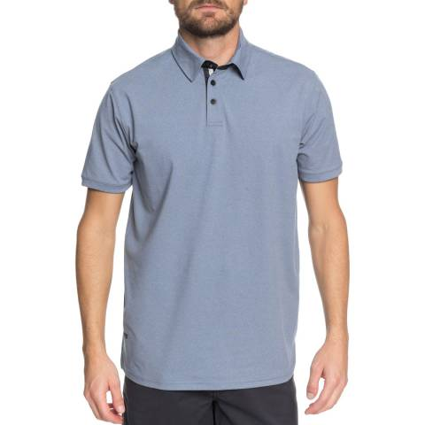 Quiksilver Light Blue Real Deal Polo Shirt