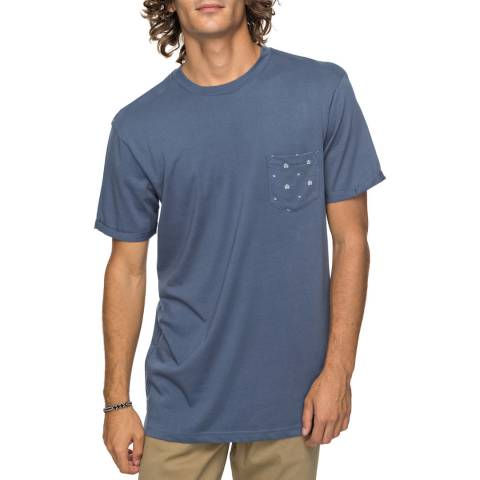 Quiksilver Blue Cotton Pocket Jungle T-Shirt
