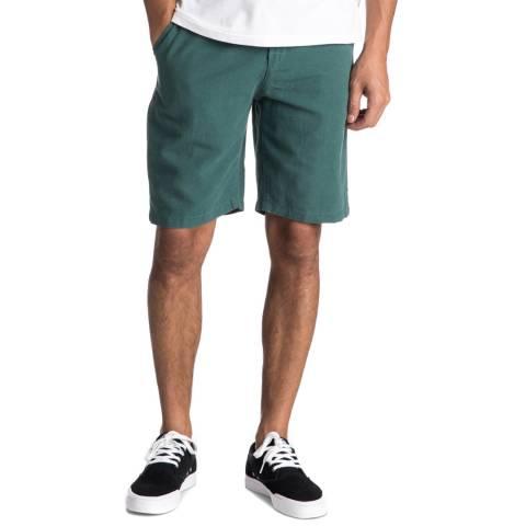 Quiksilver Green Linen Cotton Shorts