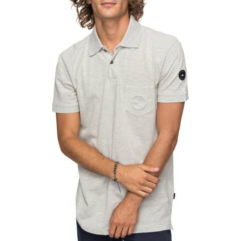 Quiksilver Light Grey Polo Shirt