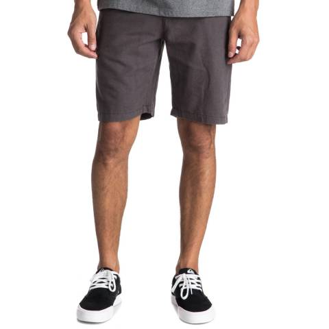 Quiksilver Brown Linen Cotton Shorts