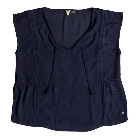 Roxy Navy Cropped Top