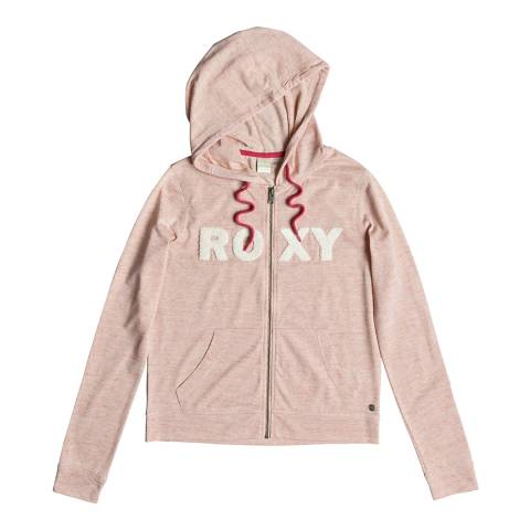 Roxy Pink Sunrise Power Zip-Up Hoodie