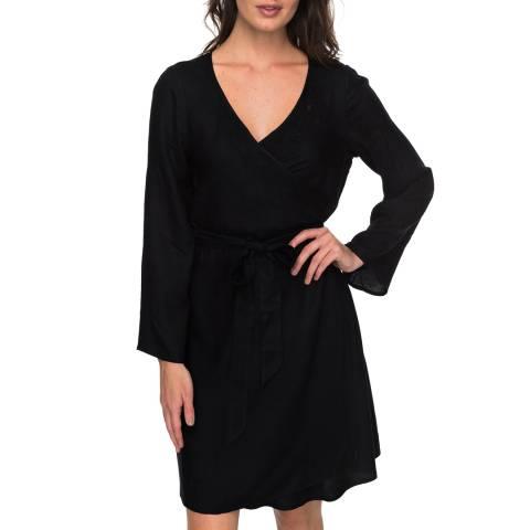 Roxy Black Small Hours Wrap Dress