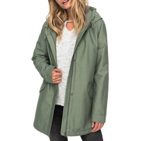 Roxy Green Sunny Fly Away Hooded Jacket