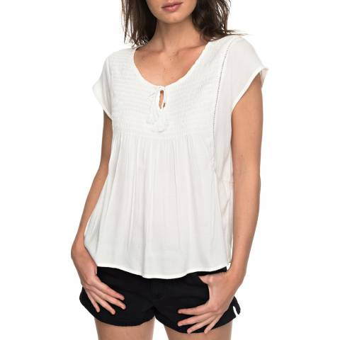 Roxy White Electric Fling Sleeveless Top