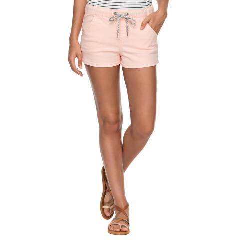Roxy Pink Music Never Stop Beach Shorts