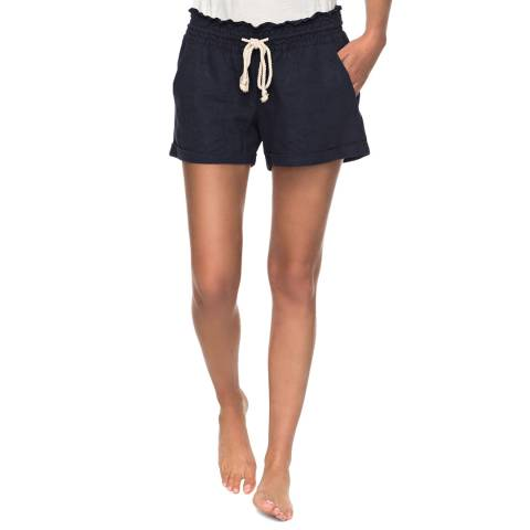 Roxy Navy Relaxed Shorts