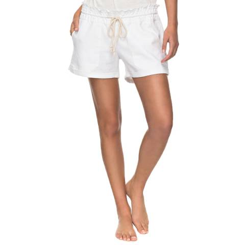 Roxy White Relaxed Shorts