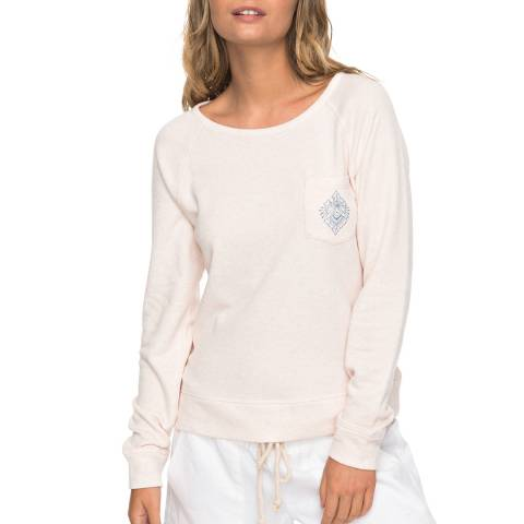 Roxy Pink Crew Neck Sweatshirt