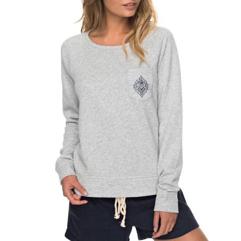 Roxy Grey Crew Neck Sweatshirt